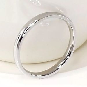 Jewelry - Silver 4mm Stackable Wedding Band Ring